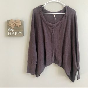 🌲 Free People Cropped Dolman Sleeve Sweater